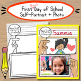 First and Last Day of School Photo + Self-Portrait