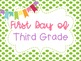 First and Last Day of School Photos Green Polka Dot Poster Printables