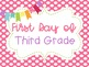 First and Last Day of School Photos Pink Polka Dot Poster Printables