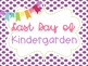 First and Last Day of School Photos Purple Polka Dot Poster Printables