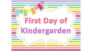 First and Last Day of School Photos Rainbow Horizontal Stripes Poster Printables