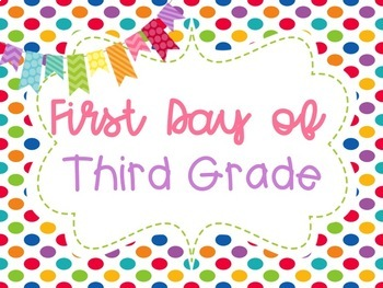 First and Last Day of School Photos Rainbow Polka Dot Poster Printables