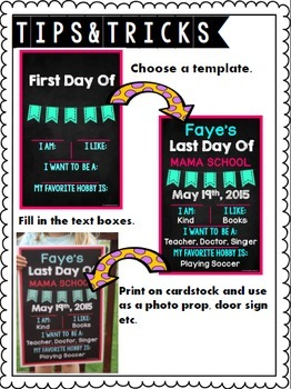 First and Last Day of School Posters {Editable}