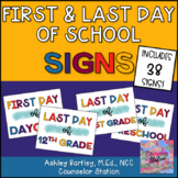First Day of School Signs and Last Day of School Signs PreK-12