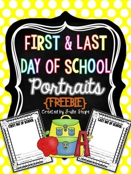First and Last Day of School Self Portrait
