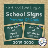 First and Last Day of School Signs 2018-2019 {Chalkboard and Burlap}