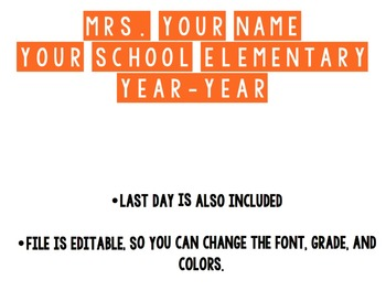 First and Last Day of School Text for DIY Photo Prop