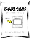 First and Last Day of School Writing and Drawing