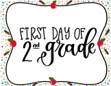 First and Last Day of Second Grade Printable