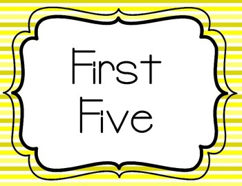 First and Last Five - Yellow
