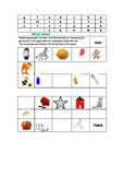 First and Last Letter Recognition Game