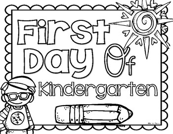 First and Last of Kindergarten School Photo Sign Poster and Coloring Pages