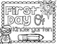 First and Last of Kindergarten School Photo Sign Poster an
