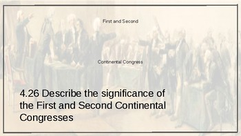 First and Second Continental Congress