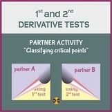 First & Second Derivative Tests - Partner Activity - Dista