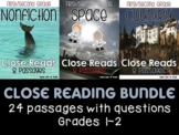 First and Second Grade Close Reading BUNDLE