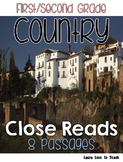 First and Second Grade Close Reads - All About Countries