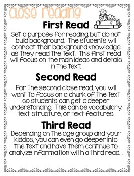First and Second Grade Close Reads - All About Space