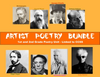 Artist Poetry Bundle:  Poetry Unit with 8 Different Poem Types