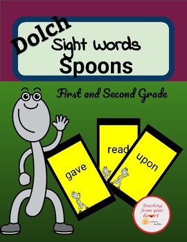 First and Second Grade Dolch Sight Words Spoons Game Best Seller