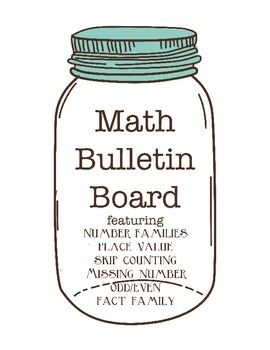 First and Second Grade Math Bulletin Board