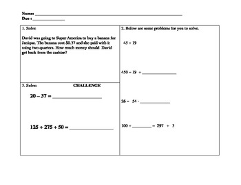 Common Core First and Second Grade Math Worksheets - 39 Pages