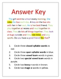 First and Second Grade Phonics and Word Work