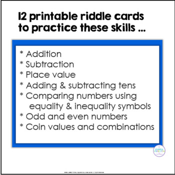 First and Second Grade Riddle Cards for 101-120 - Bonus Add-On!