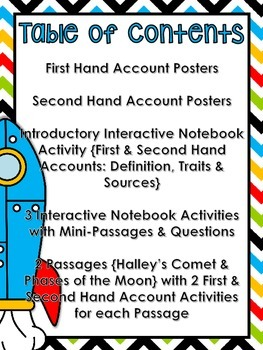 First and Second Hand Accounts - RI.4.6 & RI.5.6