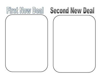 First and Second New Deal Graphic Organizer