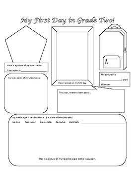 First and Second grade get to know you activity