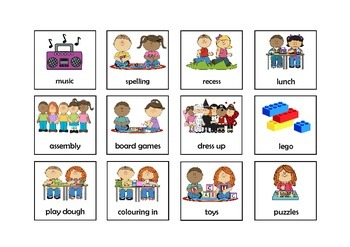 First and Then Board with Activity Cards