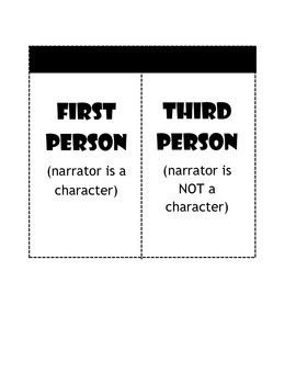 First and Third Person - Interactive Notebook Foldable