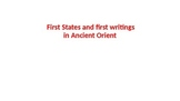 First city-states and first writing systems