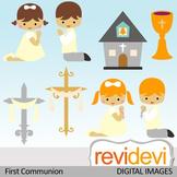 First communion clip art (boys, girls, christian, catholic) clipart