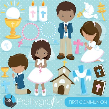 First communion clipart commercial use, vector graphics, digital - CL836