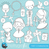 First communion stamps commercial use, vector graphics, images - DS822