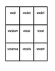 First conjugation Present active Latin verbs Spoons game / Uno game