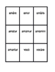 First conjugation Present passive Latin verbs Spoons game / Uno game