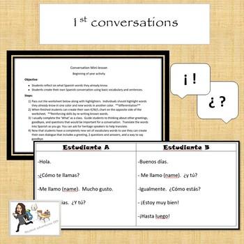First conversations