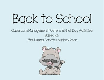 First day - Kissing Hand Activities - Raccoon Theme Classroom Management Items