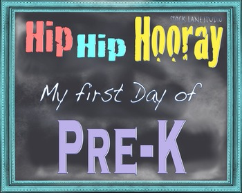 First day Printable School Sign 8x10 Pre-K  Back to school  poster