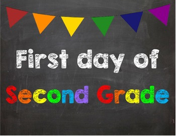 First day of 2nd Grade Poster/Sign