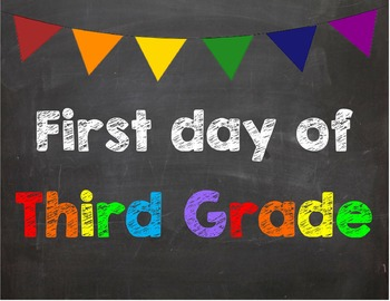 First day of 3rd Grade Poster/Sign