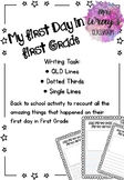 First day of First Grade Memories - Year 1 QLD Lines