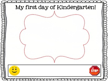First day of Kindergarten Self Portrait