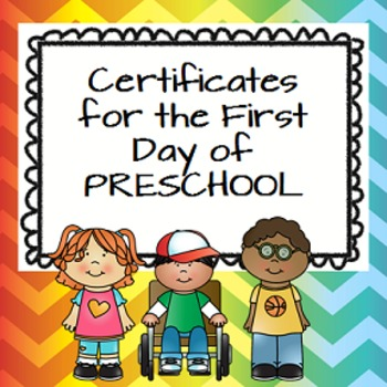 Preschool Certificate Teaching Resources | Teachers Pay Teachers