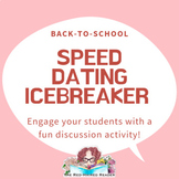 First day of School Speed Dating Icebreaker activity: High School English