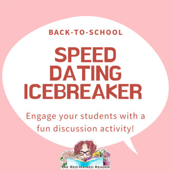 First day of School Speed Dating Icebreaker activity: High School English