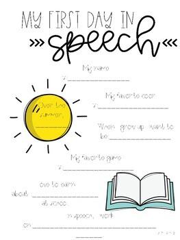 Back to School Speech Activity
